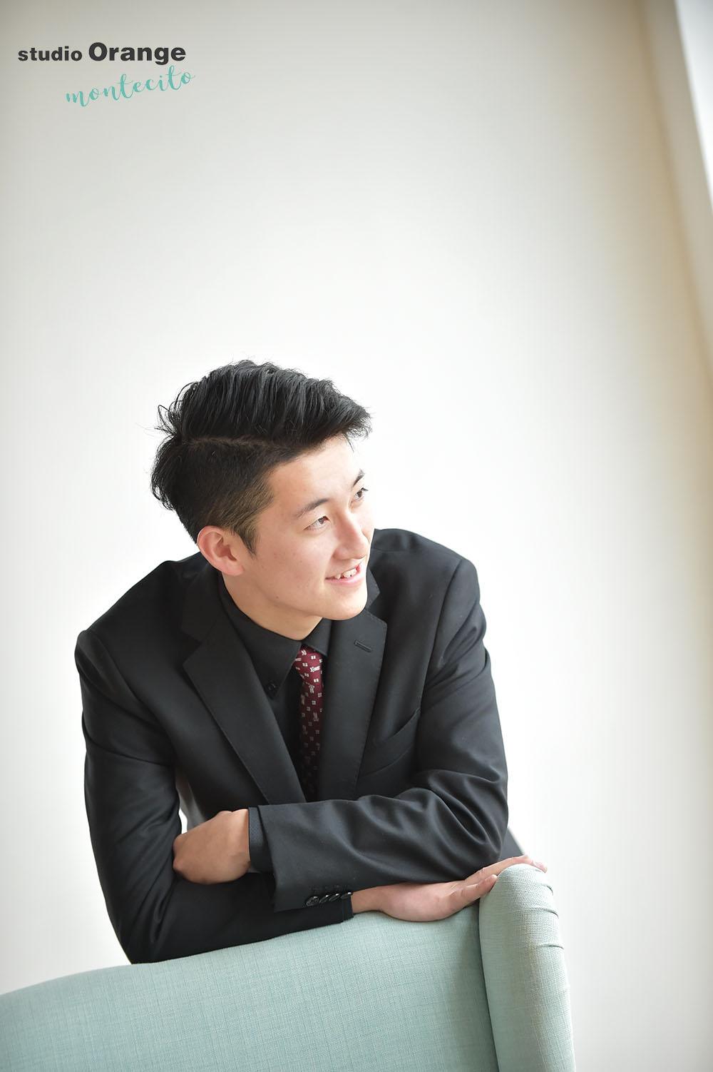 宝塚市 男性成人式 スーツ 家族撮影