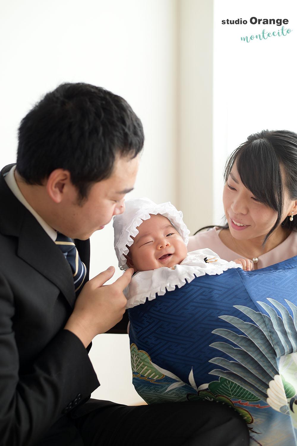 宝塚市 生後1ヶ月男の子 お宮参り