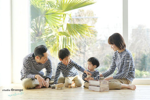 神戸市 1歳男の子 お誕生日撮影 家族撮影