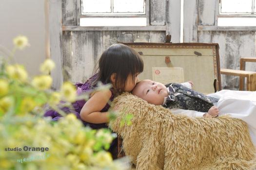 宝塚市 生後2ヶ月男の子 お宮参り 洋装
