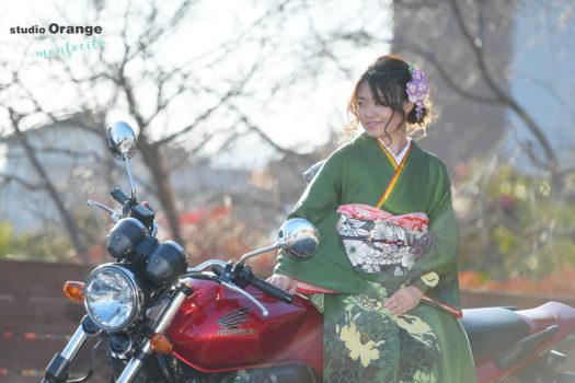 川西市 持込振袖 成人式 バイク