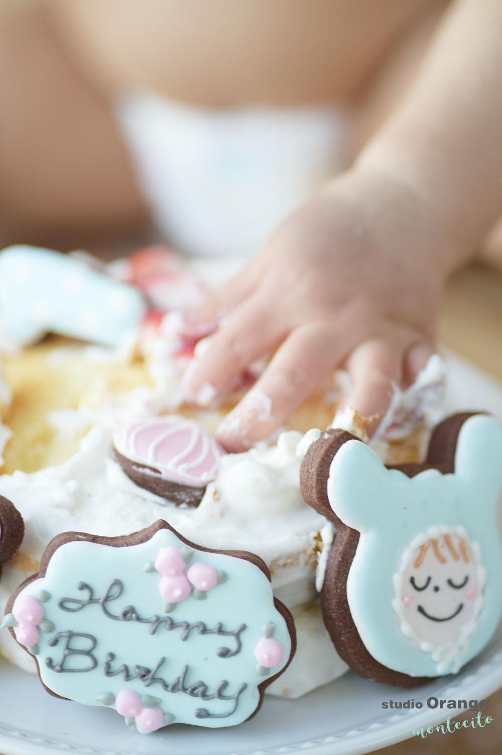 尼崎市 1歳女の子 お誕生日 スマッシュケーキ