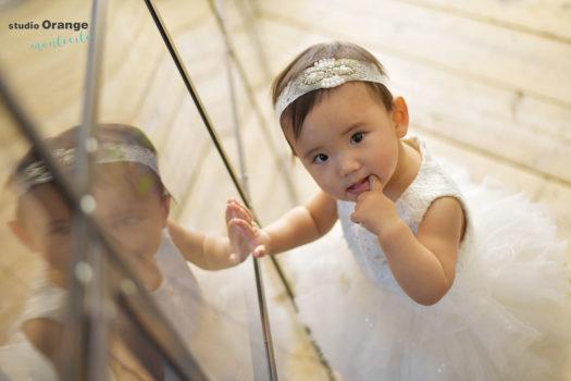 宝塚市 1歳女の子 桃の節句 ドレス