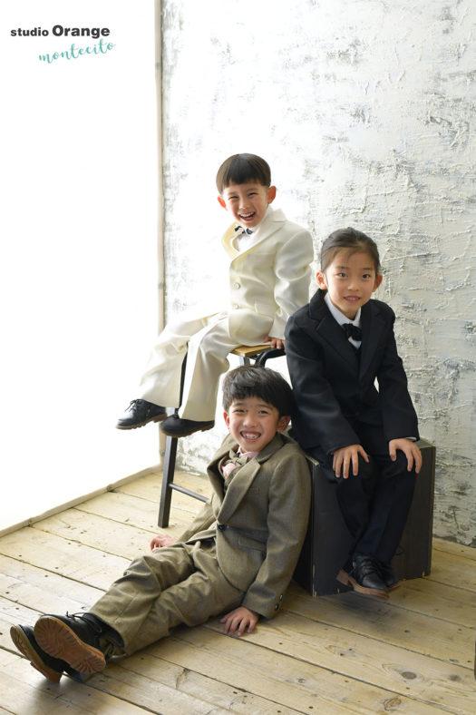 宝塚市 5歳男の子 七五三 洋装 兄弟撮影