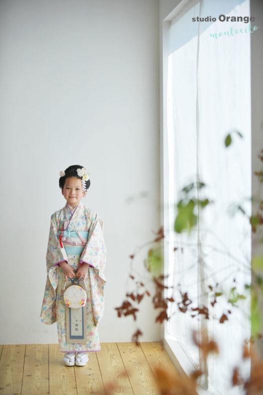 三田市 7歳女の子 スタジオ着物 七五三撮影