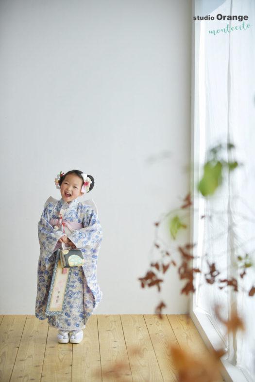 三田市 5歳女の子 スタジオ着物 七五三