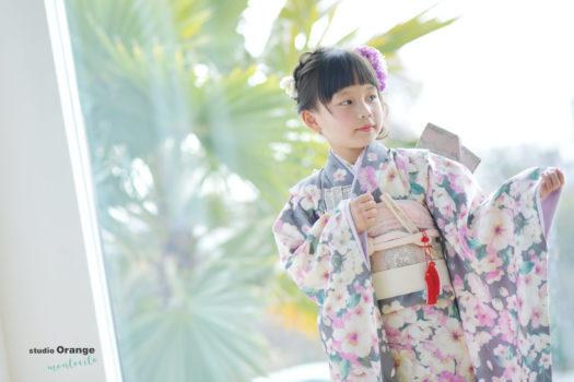 宝塚市 7歳女の子 着物 七五三撮影