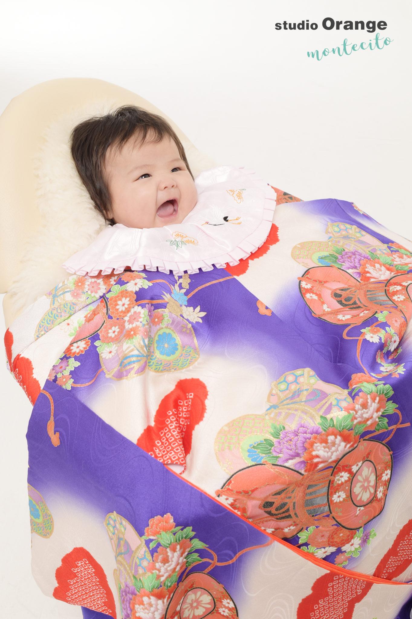 宝塚市 生後3ヶ月女の子 持込着物 お宮参り撮影