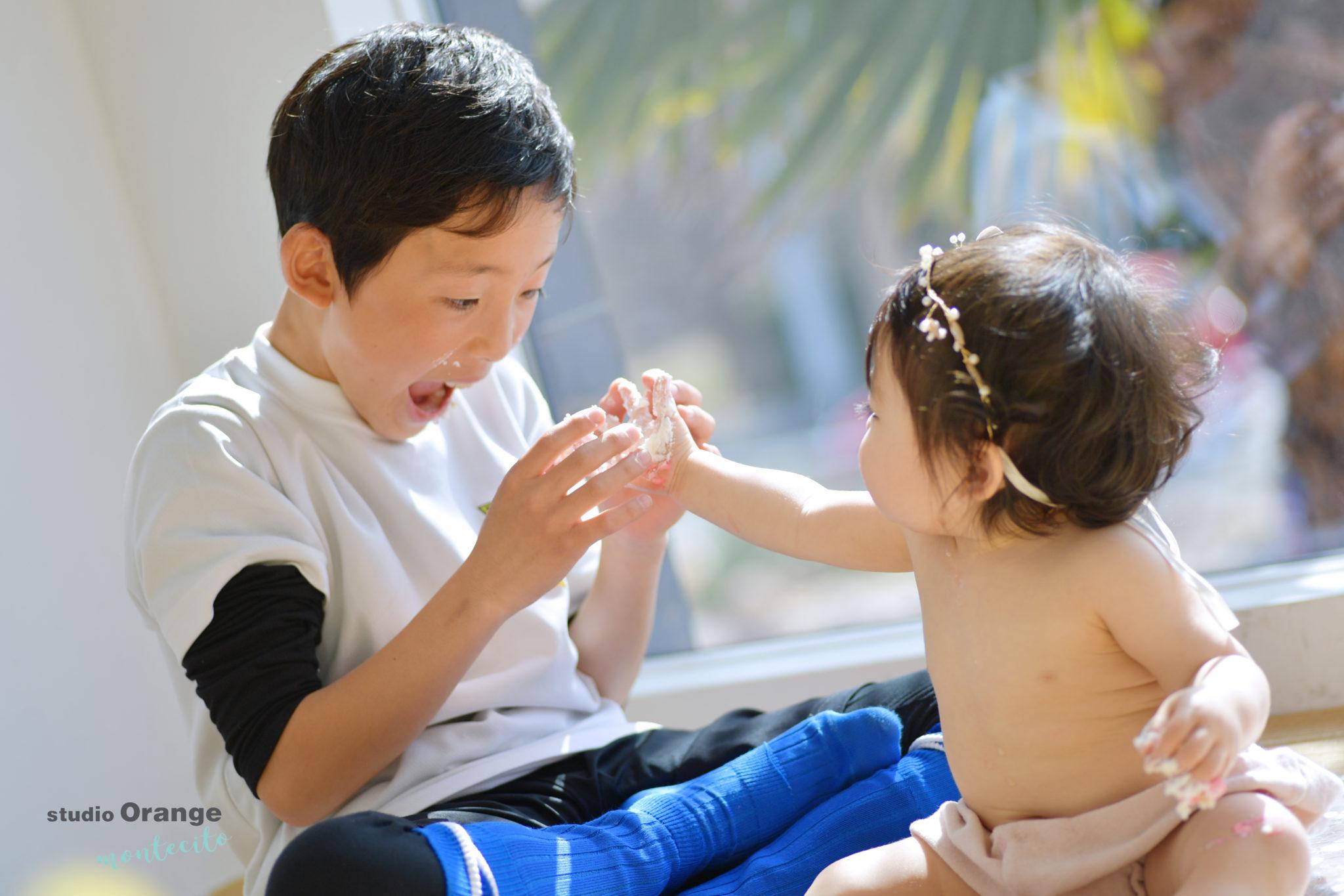 川西市 1歳女の子 バースデー スマッシュケーキ