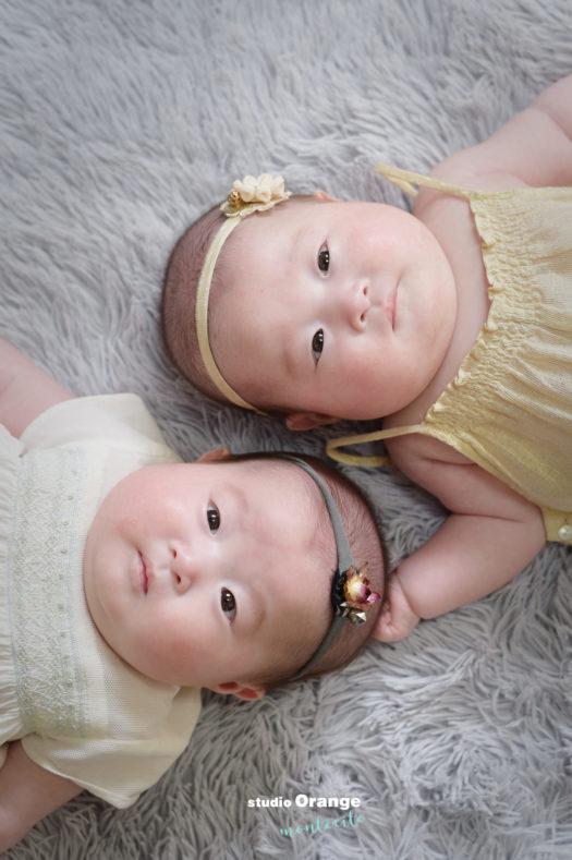 宝塚市 生後3ヶ月女の子 双子 お宮参り