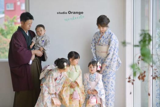 七五三 家族 宝塚店 写真館 スタジオオレンジモンテシート