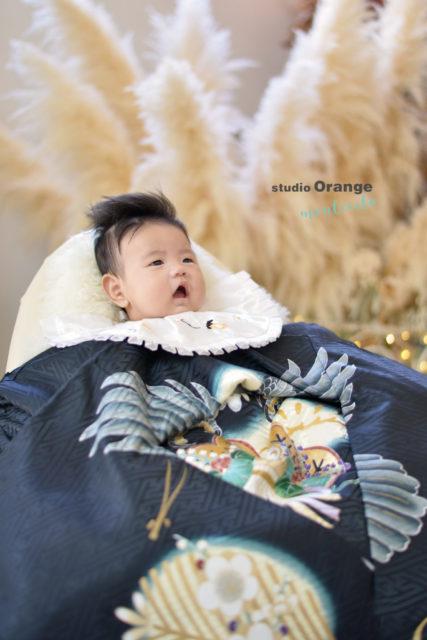 尼崎市 3ヶ月男の子 お宮参り お祝い着 和装