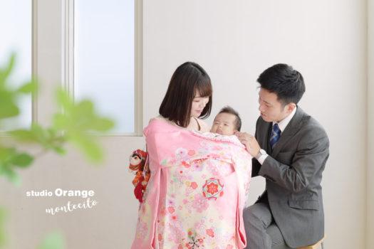 お宮参り 家族写真 宝塚市 写真館 スタジオオレンジモンテシート